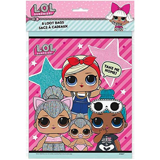 L.O.L Surprise! Party Loot Gift Bags - Pack of 8