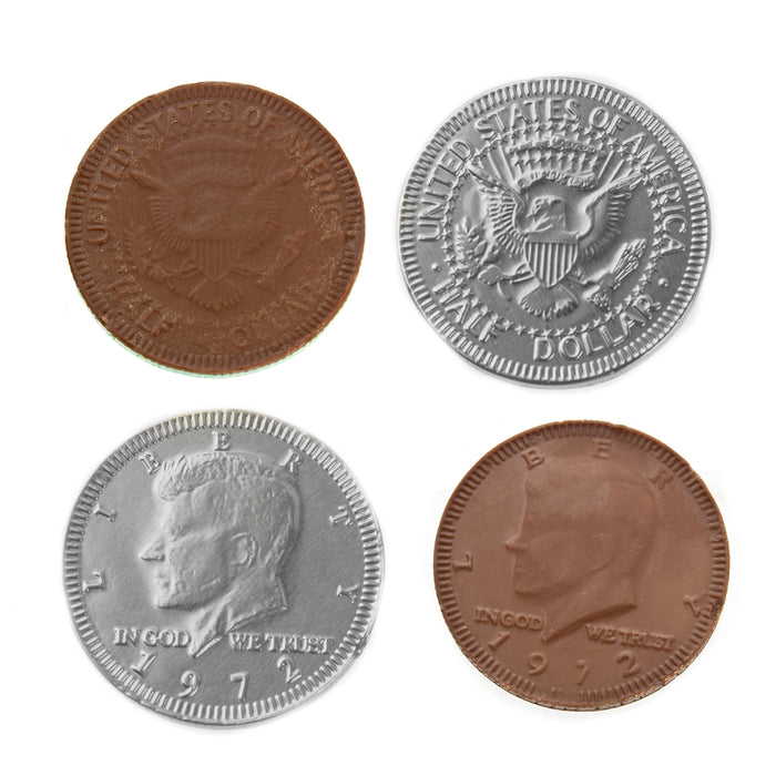 Silver Chocolate Coins - 1b
