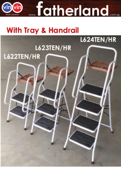 FOLDABLE LADDER FOR HOME & OFFICE WITH TRAY AND HANDLE