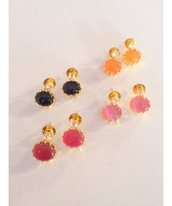 Fashionable And Colorful Earrings Stud Pair