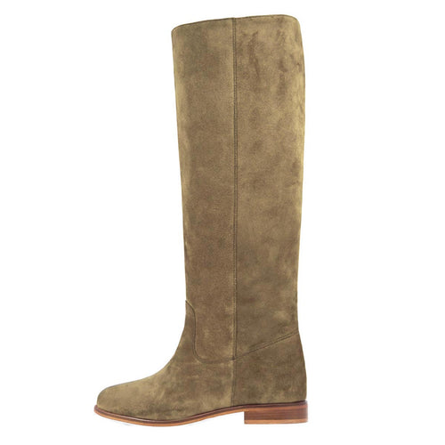 Iris suede, sand - wide calf boots, large fit boots, calf fitting boots, narrow calf boots