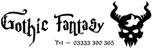 Gothic Fantasy Logo and Telephone Number