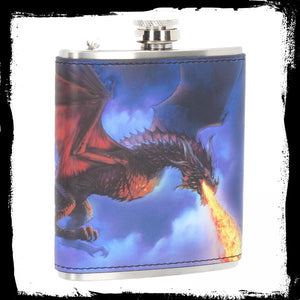 Fire in the Sky Hip Flask (JR) 7oz Gothic Fantasy