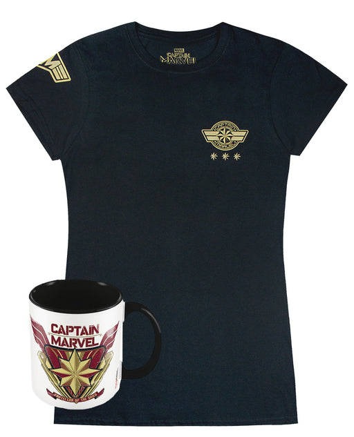 Marvel Captain Marvel Womens T-Shirt and Mug Gift Set