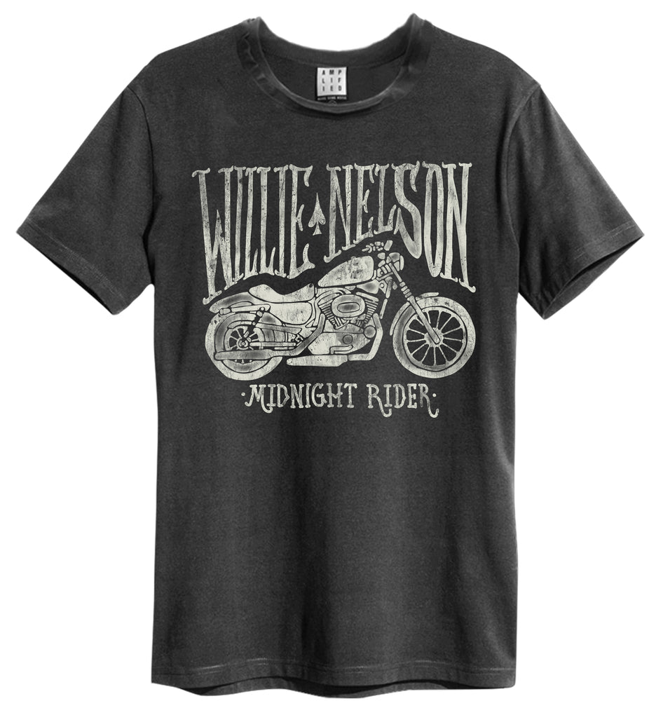 Amplified Willie Nelson Midnight Rider Mens T-Shirt