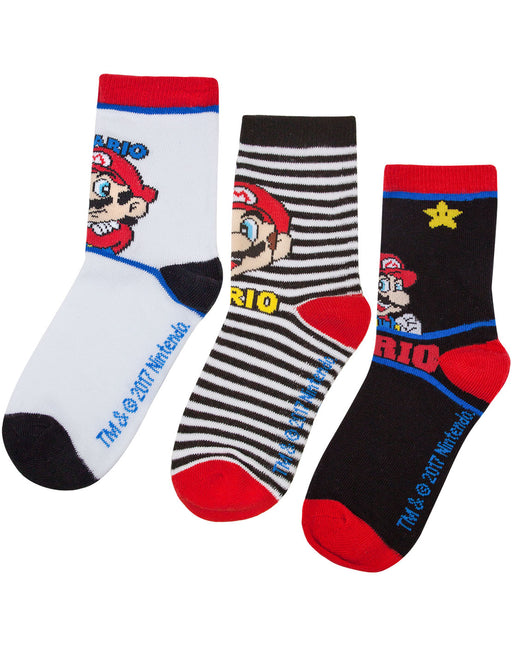 Super Mario Assorted 3 Pack Boy's Socks