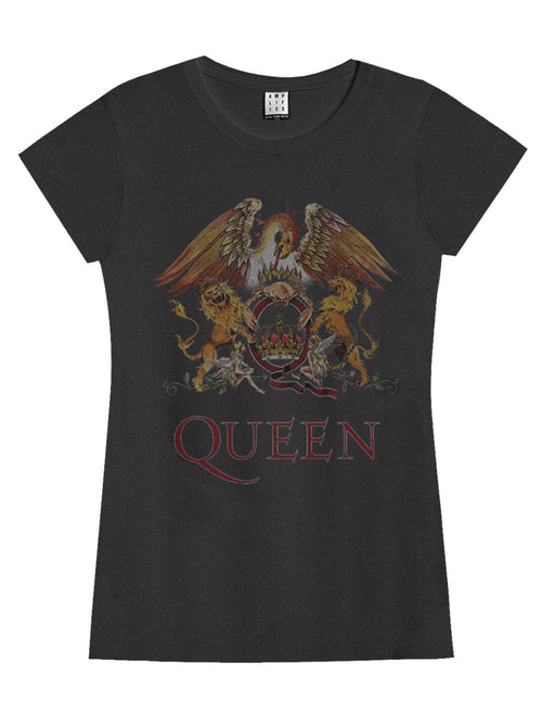 Amplified Queen Royal Crest Womens T-Shirt