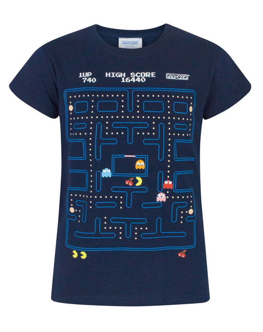 Pacman Classic Action Scene Girl's T-Shirt