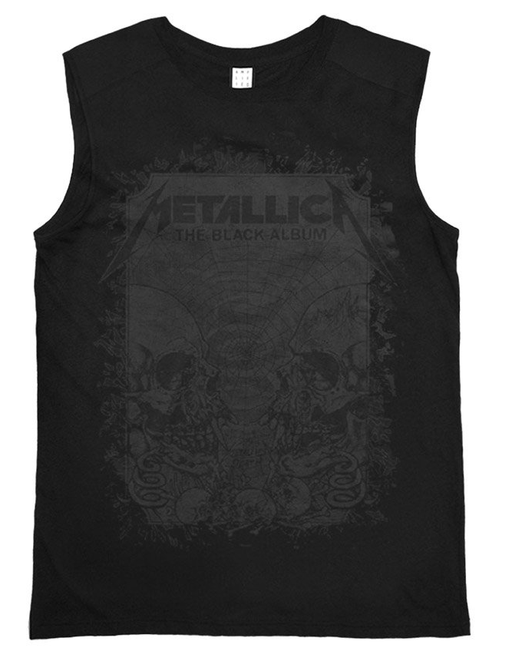 Amplified Metallica The Black Album Men's Sleeveless T-shirt