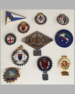 11 Italian Automobile Club badges