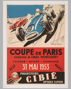 Coupe de Paris 1953 original poster by Geo Ham
