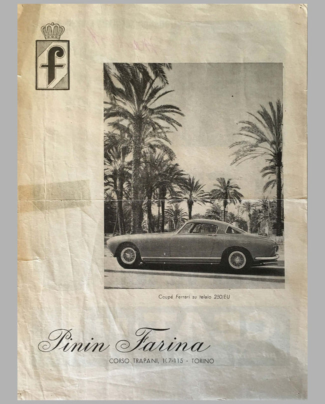 Pininfarina original magazine ad from 1954