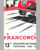 Grand Prix of Belgium 1957 original poster 2