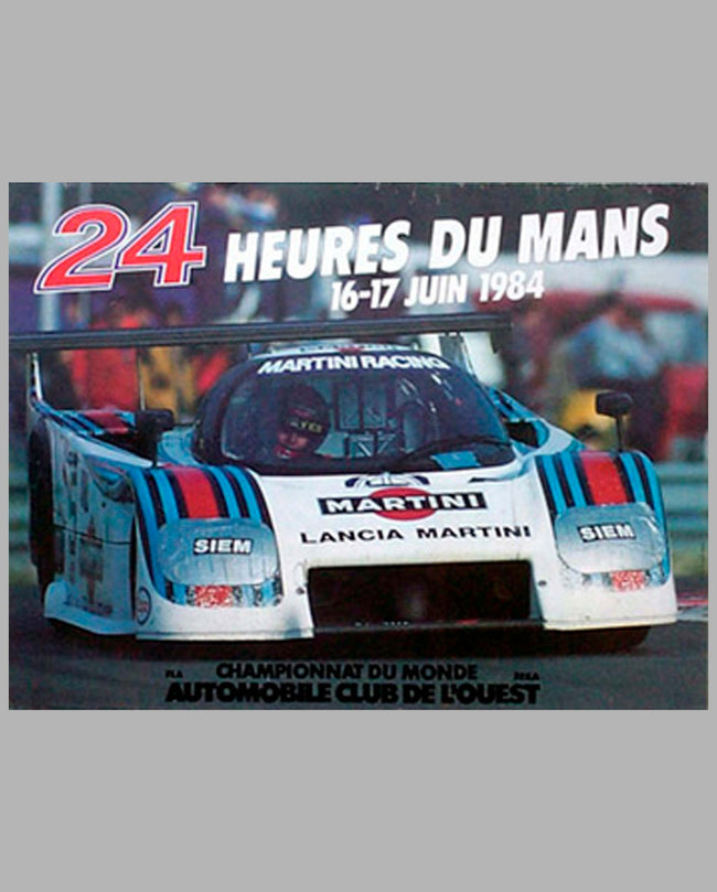 1984 24 Hours of Le Mans Original Poster