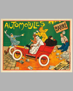 1900's Automobile Barré period advertising poster by Walter Thor