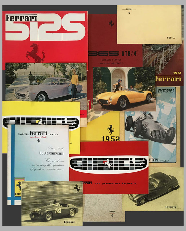Ferrari Vintage Literature - Many more not listed available, ask for details or send us your request