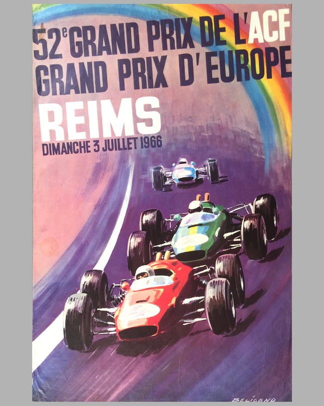1966 52nd Grand Prix de l' ACF poster by Beligond