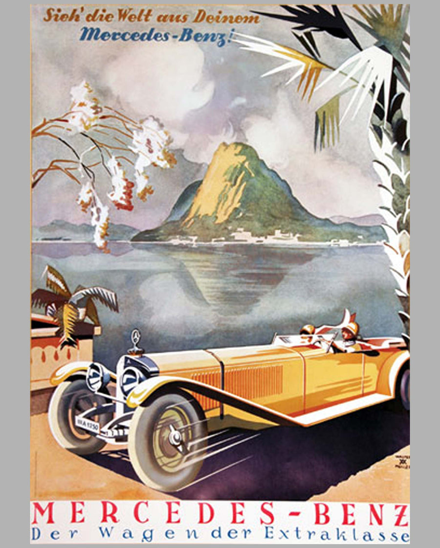 Mercedes-Benz reproduction advertising poster by Walter Muller