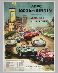 1000 Km of Nurburgring 1964 original event poster