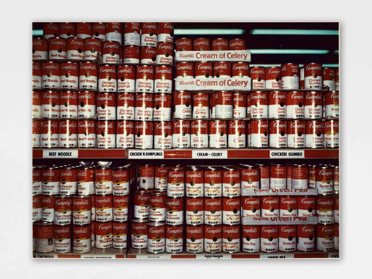 Wim Wenders, Campbell Soups, New York (1975), C-print