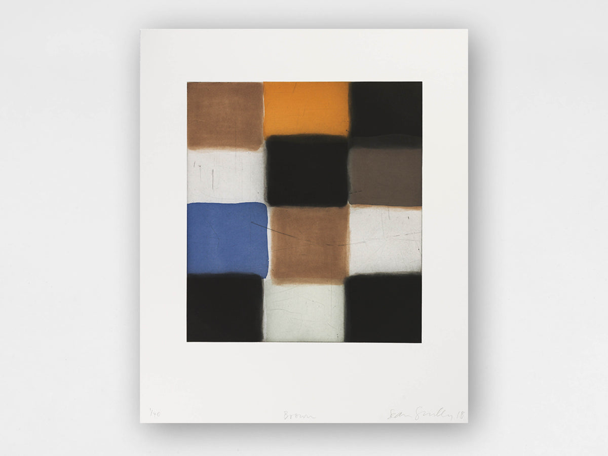Sean Scully 'Brown' Limited-Edition Print