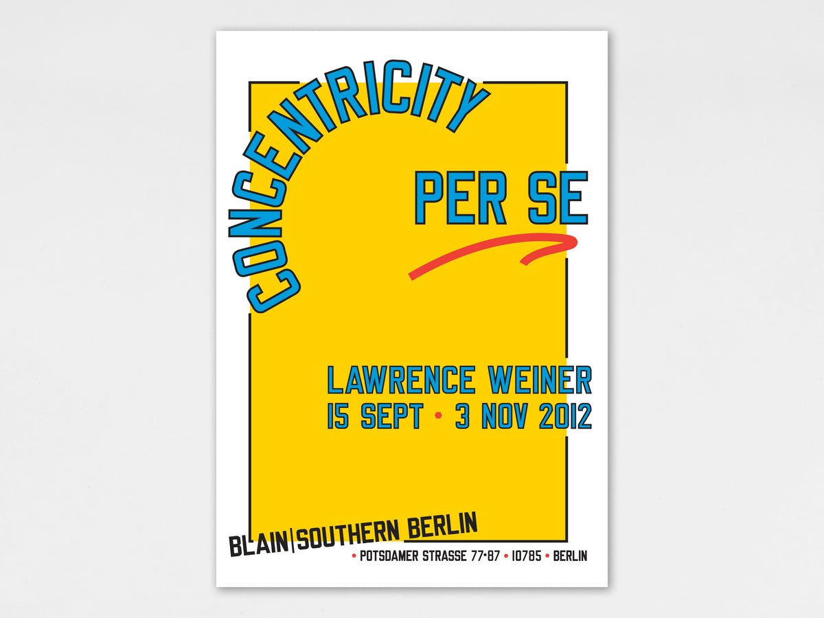 Lawrence Weiner, Lawrence Weiner Poster