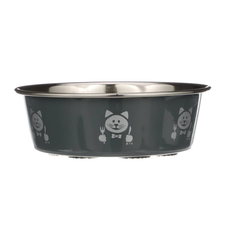 Hungry Cat Grey Bowl