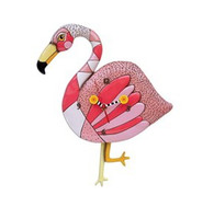 Pink Flamingo Clock