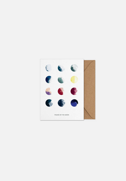 Moon Phases — Greeting Card