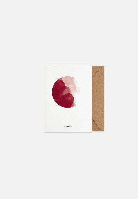 Red Moon — Greeting Card