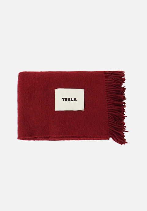 Wool Blanket — Burgundy Red