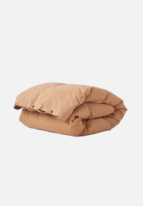 Organic Cotton Duvet Cover — Ocra Brown