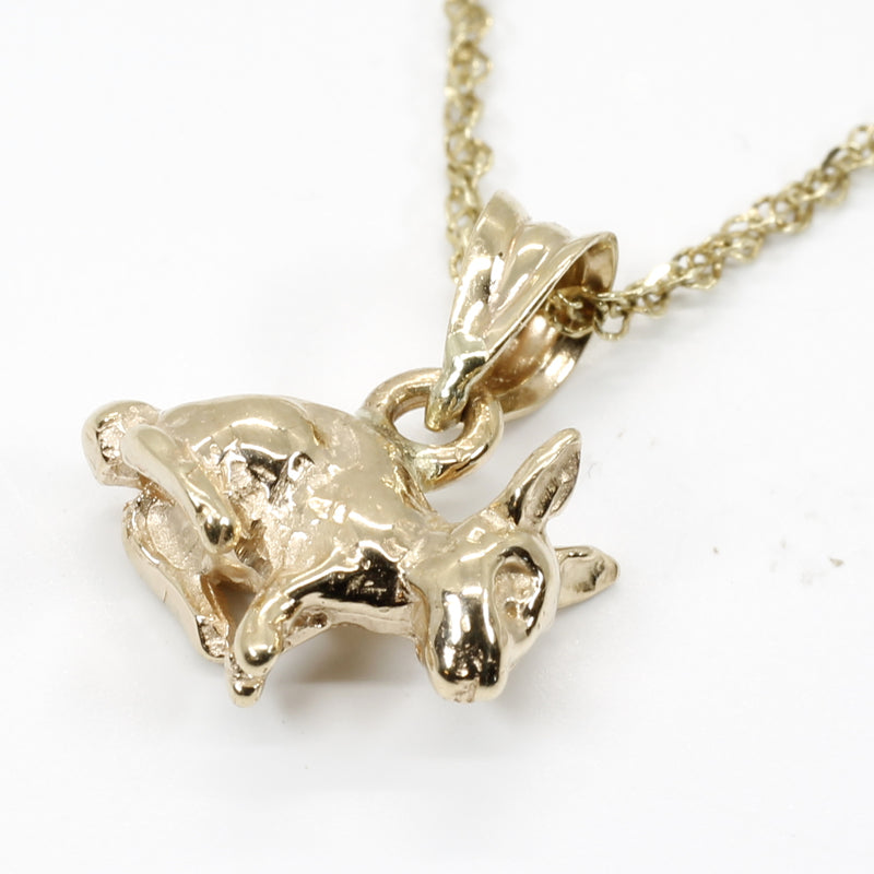 Gold Bunny Rabbit Necklace for little girl childrens jewelry gift for her