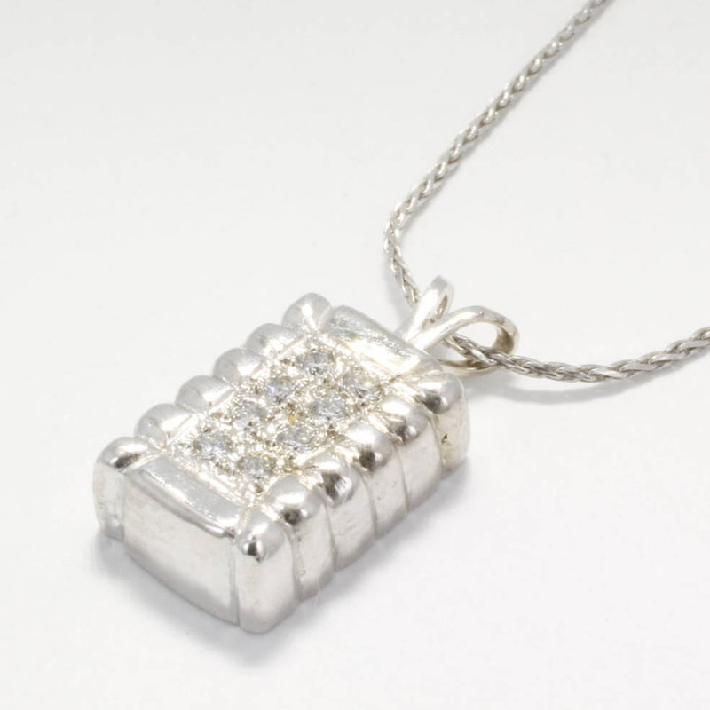 2 year anniversary gift for her,Small 14kt White Gold Diamond Cotton Bale Necklace by agrijewelry