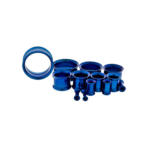 Metal Mafia DARK BLUE ANODIZED INTERNALLY THREADED TUNNELS (DBLTTI)