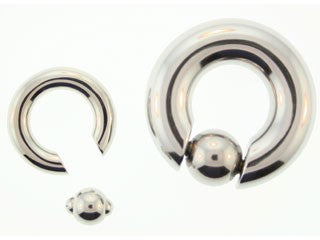 Tribalectic SS Spring Loaded Captive Bead Ring