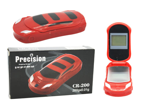 Precision Car Design Digital Scale - Red 200 x 0.01g