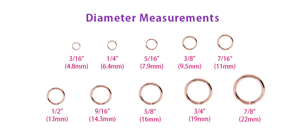 Size Chart For Nose Rings Trinity