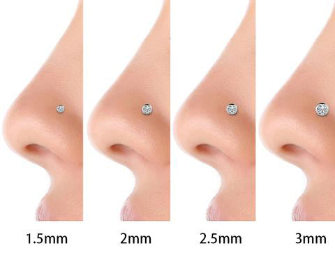 Diamond Nose Ring Sizes - model