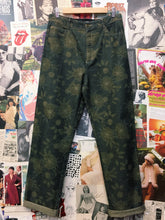 Floral High Waist Khaki Pants