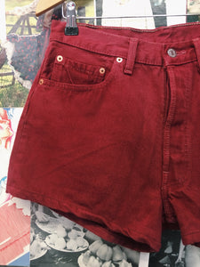 Levi's Reworked Denim 501 Red Shorts
