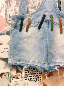 90's Distressed Denim Pinafore