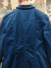 Designer Marc Cain Blue Corduroy Long Jacket