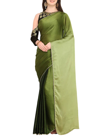 Green Boots Saree