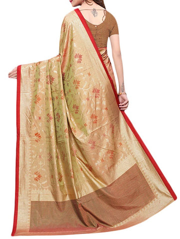 Printed Silk Foil Saree