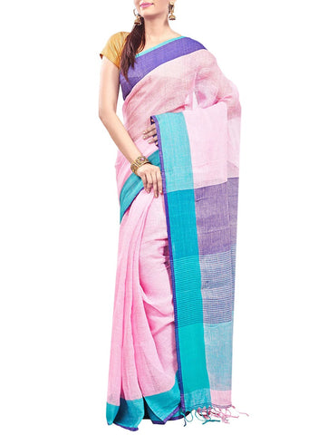 Summer Cotton Pink Saree