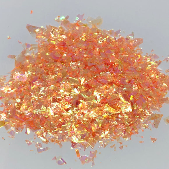 'Flamethrower' Chunky Iridescent Orange Flakes