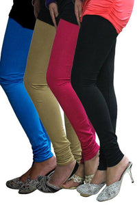 Castle Pack of 4 Multicolor Solid Leggings