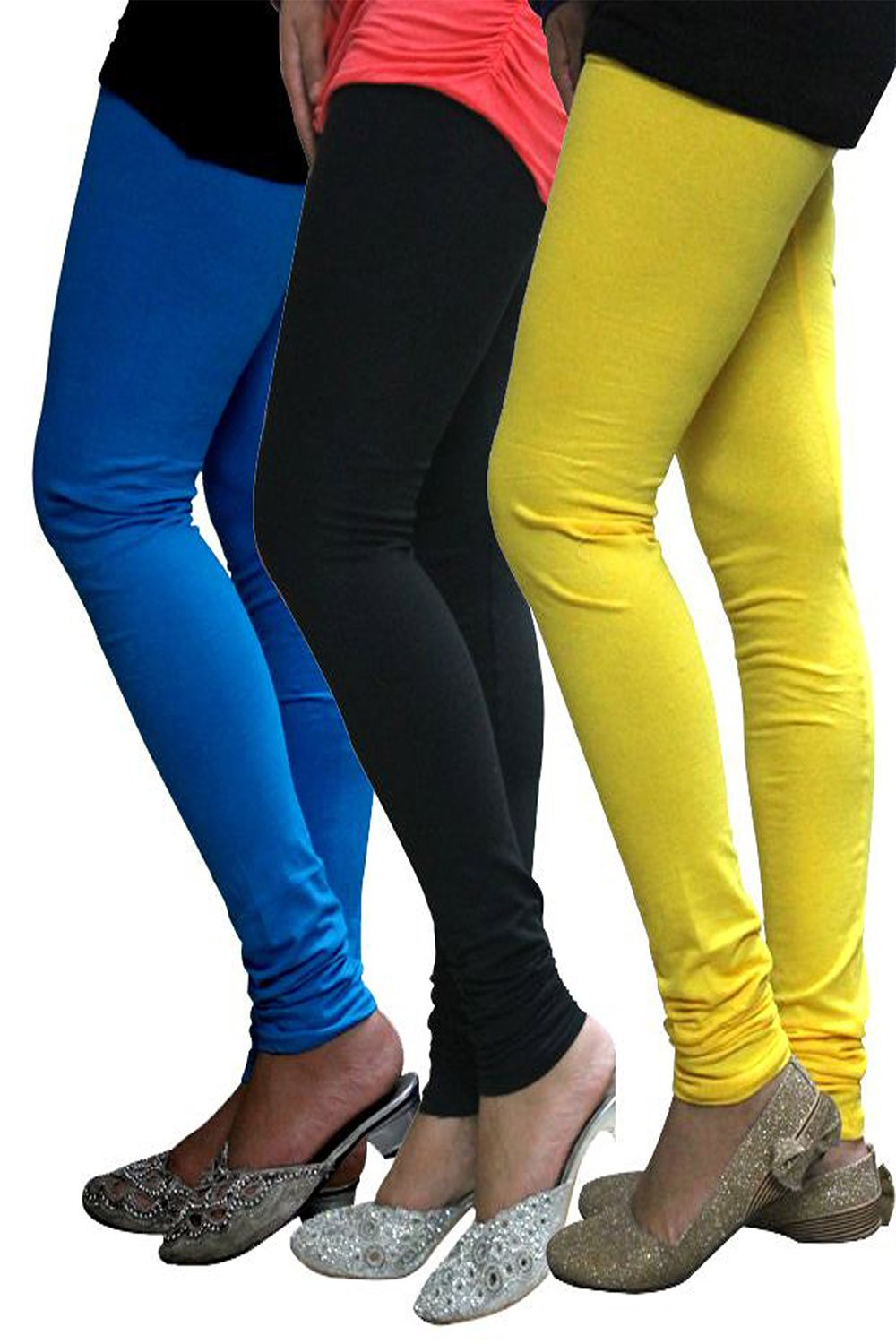 Castle Pack of 3 Multicolor Solid Leggings