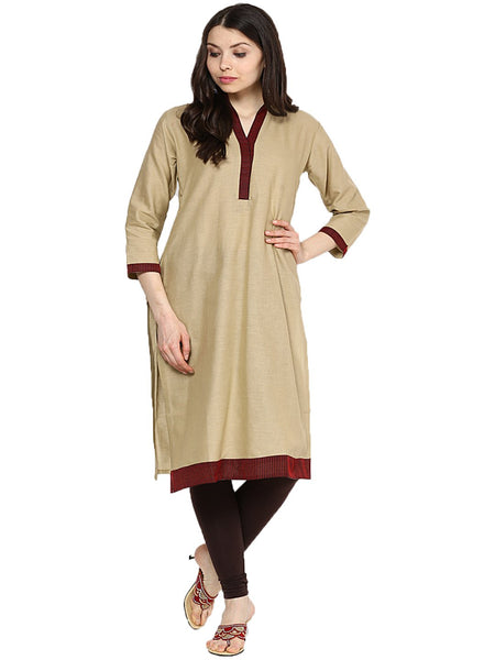 Castle Pack of 2 Solid Cotton Kurta - Castle Lifestyle